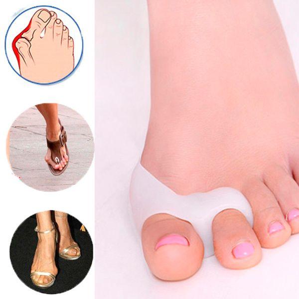1 Par Gel Silicona Juanetes Juanetes hallux valgus pro Juanetes hallux valgus pro separadores de dedos enderezadora Spreader Pro massager