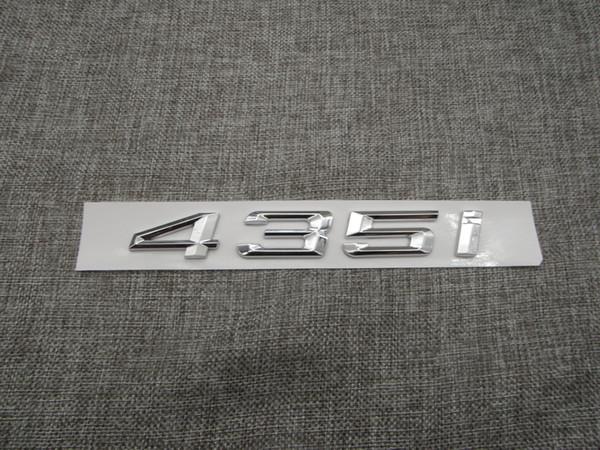 Хром багажник задний номер буквы слово значки эмблема наклейка для BMW 4 серии 435i