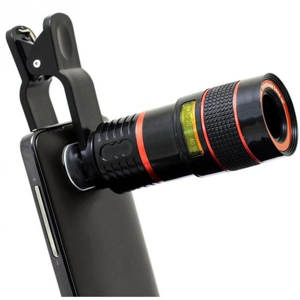 8x 12x Clip-on Phone Lens Universal Zoom Telescope Camera Telephoto Lens Zoom Telescope Magnifier Optical Lens
