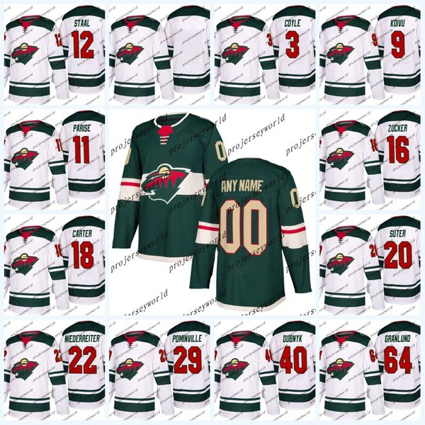 Minnesota Wild Jerseys Mens' 2017-2018 Season 26 Daniel Winnik 40 Devan Dubnyk 19 Luke Kunin 18 Cal o'Reilly 20 Ryan Suter Hockey jerseys