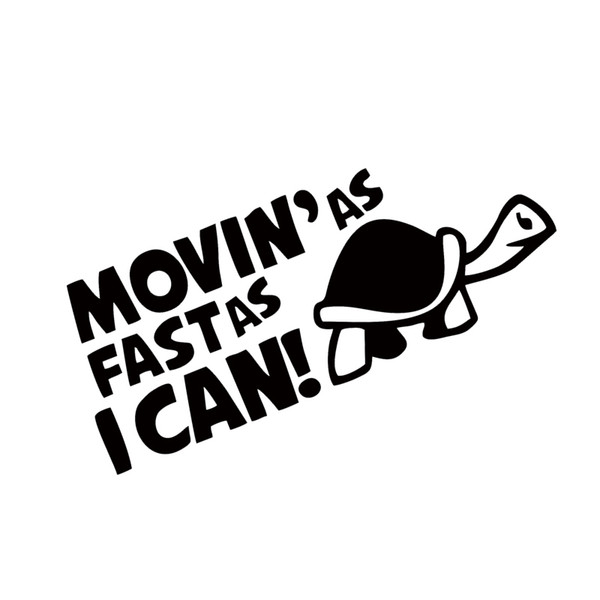 Hot Sale Car Stying Auto Moving As Fastas I Can Funny Car Window Bumper Reflective Sticker Decal Styling Jdm