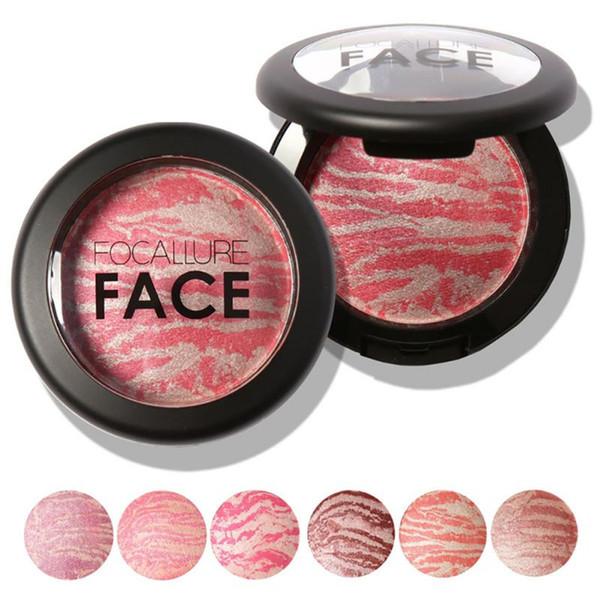Atacado estilo europeu e americano tridimensional Maquiagem Blush Baked Rouge Blush Blush em Pó Paleta Cosmetic frete grátis