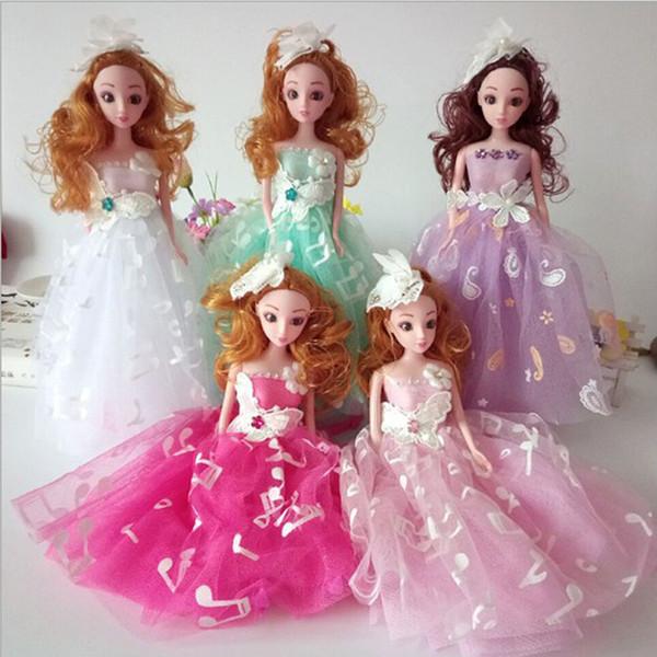 Fashionable Wedding Bridal Dolls 5 Colors 30cm Car Decoration Dolls Toys Car Creative Cute Decorative Handmade Gift