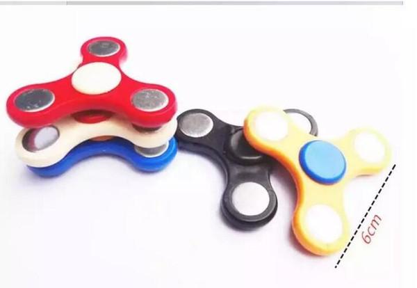 top popular 150Pcs HandSpinner Fingertips Spiral Fingers Fidget Tri Spinner EDC Hand Spinner Acrylic Plastic Fidgets Toys Gyro Toys With OPP Bag Cheap 2019
