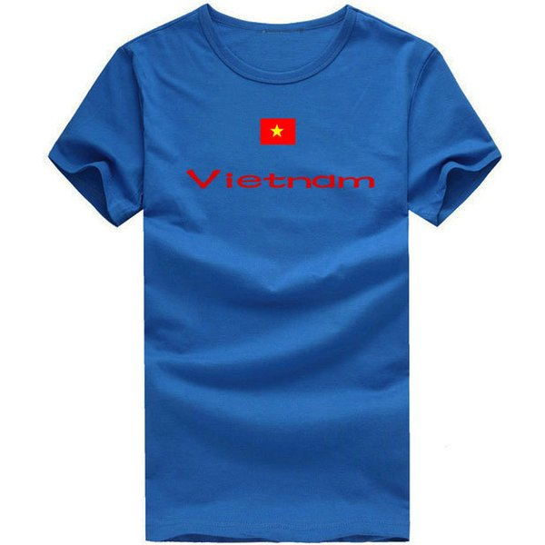 Vietnam T shirt Track and field sport short sleeve Cheer mission tees Nation flag clothing Unisex cotton Tshirt