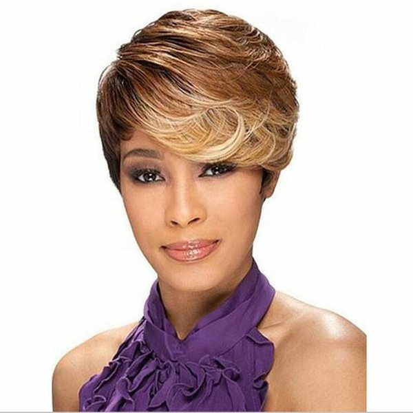 Ombre short wigs for black women black rooted side bangs blonde ombre short wigs for black women black rooted side bangs blonde hair highlights african american hair pmusecretfo Images