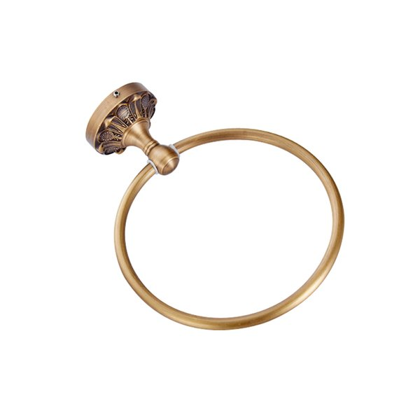 European style Wholesale And Retail Promotion NEW Antique Brass Towel Ring /Wall Mounted decorative towel hooks / bathroom hooks for towels