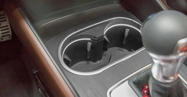 Car Interior center control water cup holder panel decorative cover trim Stainless steel strip 3D sticker for Audi A3 sedan