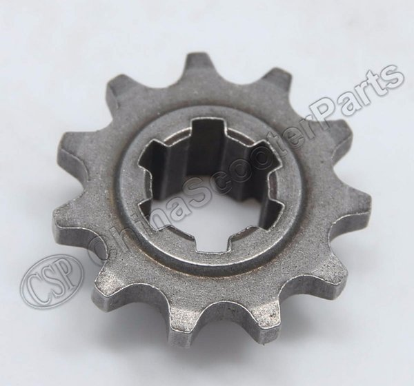 Wholesale- T8F 11T front pinion sprocket 11 tooth of clutch gear box for 2 stroke 47cc 49cc mini moto pocket atv dirt bike Crosser Minimoto