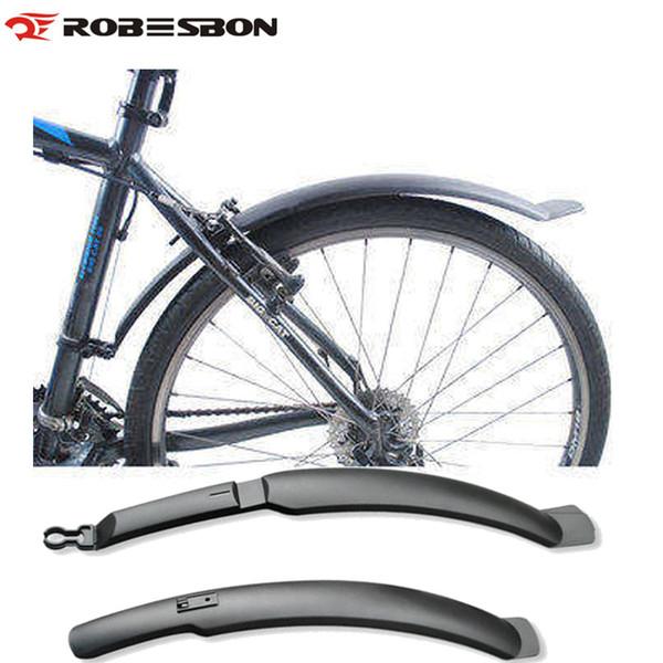 ROBESBON Bike Wings Fender Road Mountain Bike Bicycle Front Rear Mudguard Fender Set Mud Guards Wings To Bicycle Front/Rear Racks