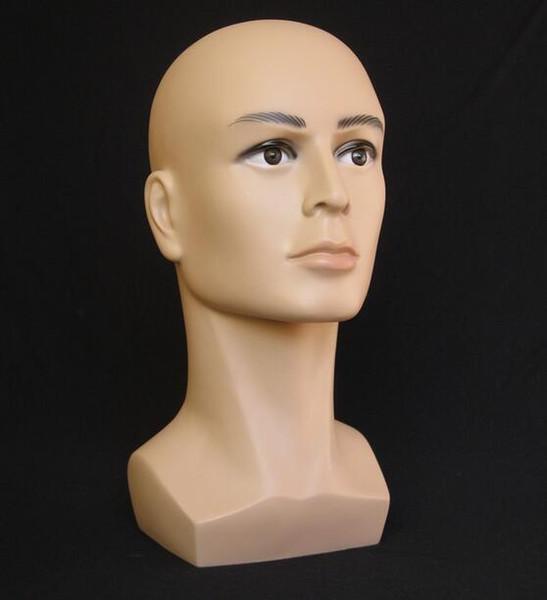 Al por mayor-libre shiping macho Mannequin Head Hat Display peluca pista de entrenamiento modelo cabeza modelo de hombre cabeza modelo M00480
