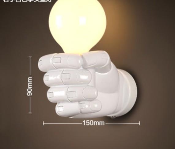Branco mão esquerda