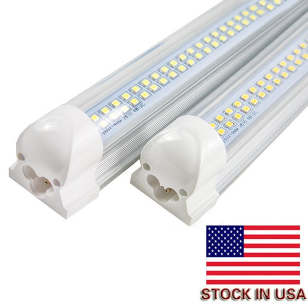 4ft T8 Led Tubes Light 28W Integrated Double Row smd2835 1200mm Led Fluorescent Lights Tubes AC 110-240V CE UL