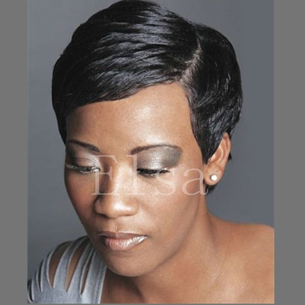 Unprocessed Indian Virgin Human Hair Bob Cut none Full Lace & Lace Front Wigs Glueless Short Bob Wigs For African American Women 4-6 Inch