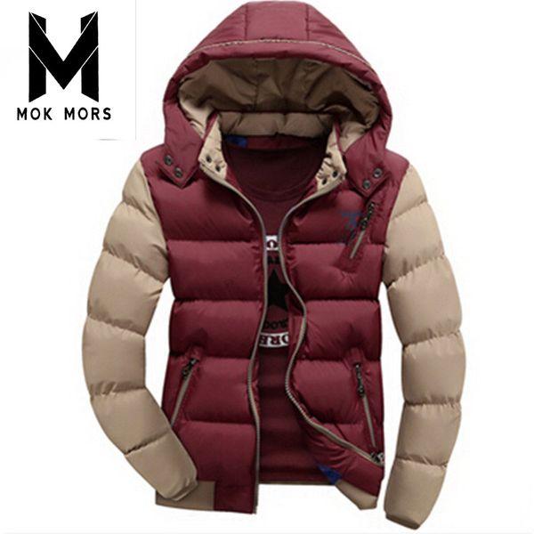 Wholesale- 2017 Hot Selling Fashion Casual winter jacket men Coat Comfortable&High Quality Jacket 5 Colors Plus Size XXXL Wholesale
