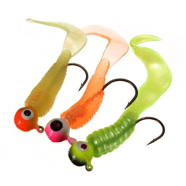 Hot Selling 17pcs/lot Fishing Lures Lead Hooks Soft Bait Suit Set Tackle Bait Minnow 5cm 5.5cm 7g 8g Random Colors