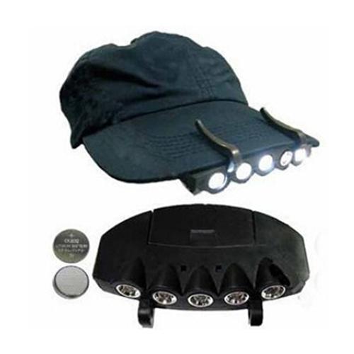 Wholesale-5 LED Scheinwerfer Flash Cap Hat Torch Head Glühbirne Angeln Camping Ultra Bright 9OCC