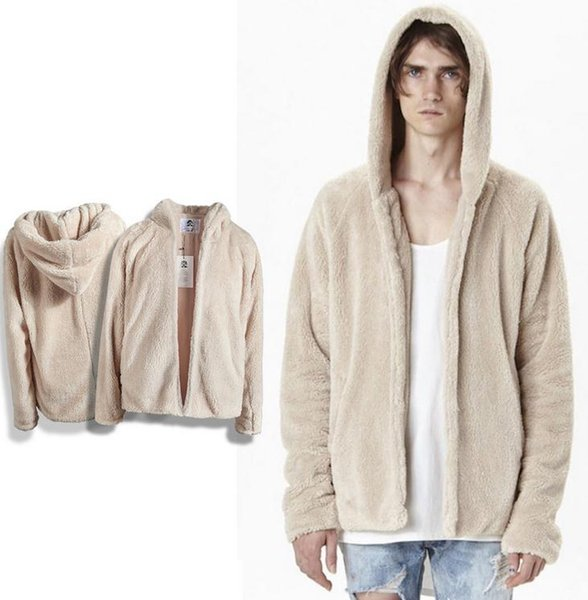 2017 new Justin bieber fear of god high quality Wool cloth with soft nap hoodies kanye west men clothing hiphop coat m l xl