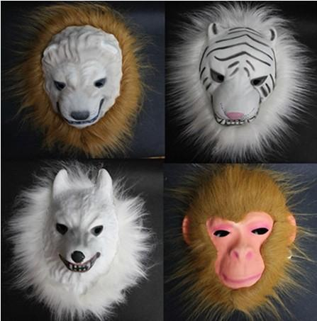 hotsale EVA Material Halloween Mask Animals shape Mask Party Free Shipping
