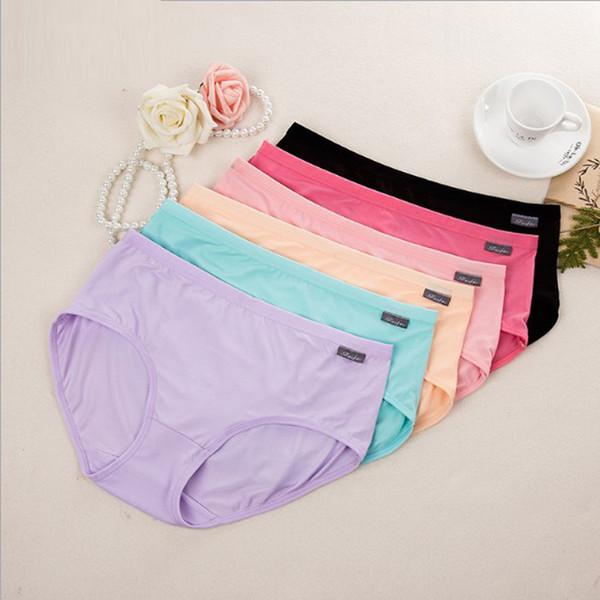 top popular 120pcs lot mixed colors New Arrival Briefs Women Underwears plus size L XL XXL Mid Waist Women's Panties 2020