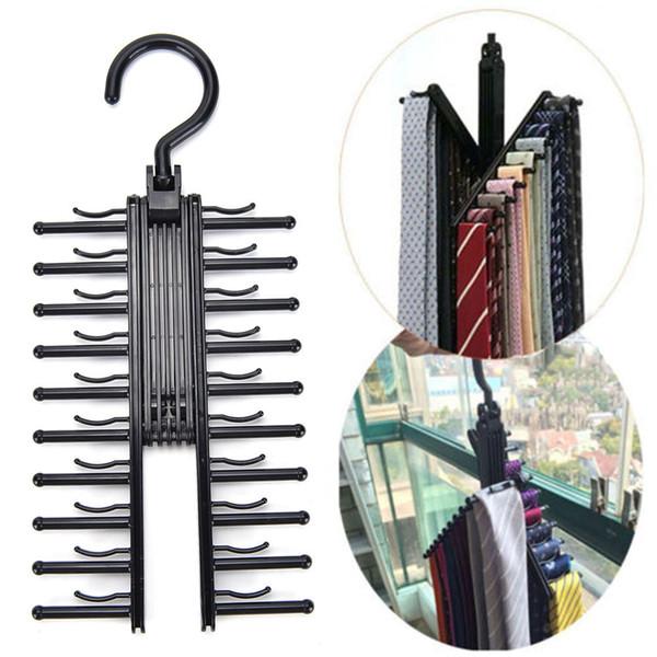 Armadio multifunzionale regolabile girevole da 360 gradi 20 rack cravatta cinghia di alta qualità cravatte sciarpa gancio colore casuale