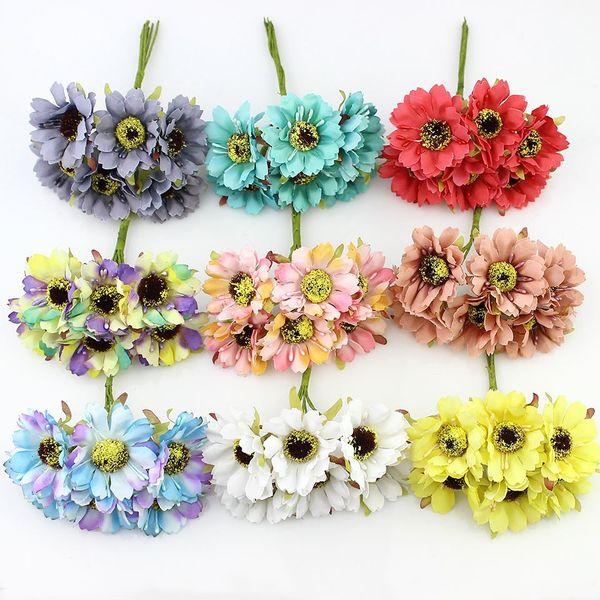 12pieces 4cm artificial poppy flower bouquet silk cherry flowers for 12pieces 4cm artificial poppy flower bouquet silk cherry flowers for home diy wreath wedding decoration fake mightylinksfo Choice Image