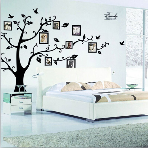 3D DIY Family Photo Tree Frame PVC Wall Decals Adhesive Wall Stickers Home  Decor Mural Art