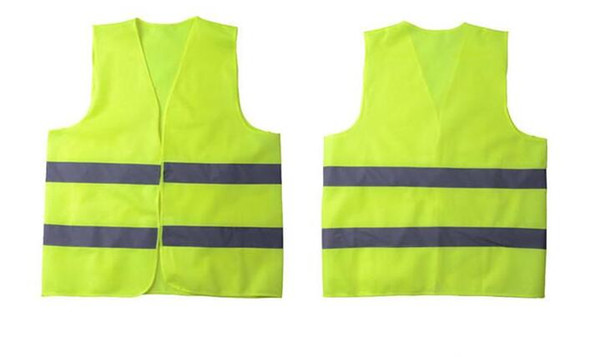 best selling High Visibility Working Safety Construction Vest Warning Reflective traffic working Vest Green Reflective Safety Clothing Men's Vests