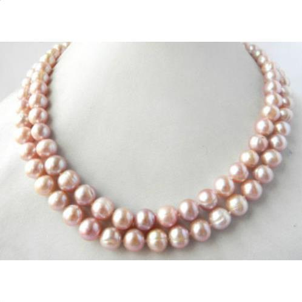 elegant 12-13mm south sea lavender baroque pearl necklace 38inch14k