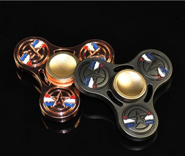 top popular Captain America Hand Spinner EDC HandSpinner Fidget Fingertips Toy Marvel's The Avengers League Decompression Anxiety Toys 2019