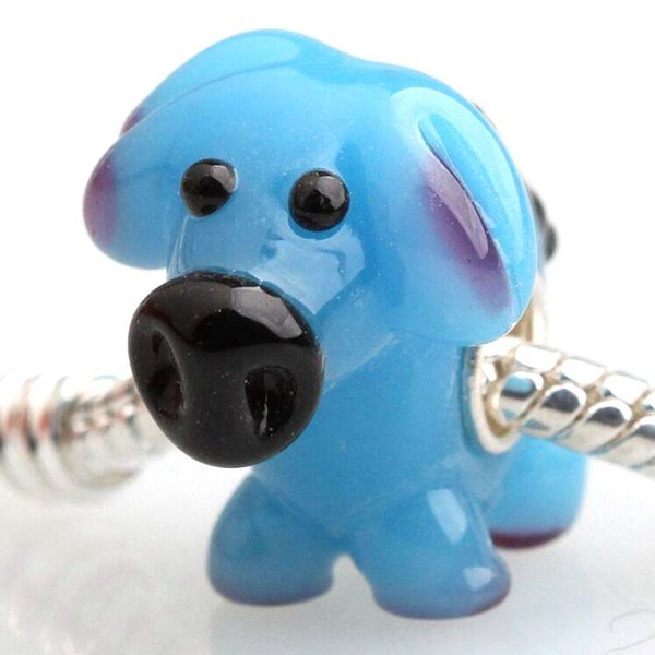 20pcs / Lot Fashion High Quality Animal Lampwork Glass Single Core Beads Fit European Bracelet Authentic Luxury DIY Jewelry Gift GSB130