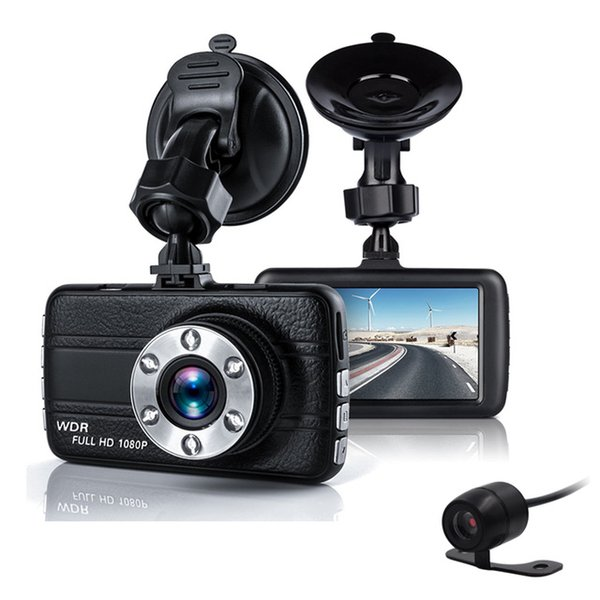 Dual Car Camera DVR 1080P Car Recorder Dvr 3 inch 150 Degree 6 Led Dashcam Two lens Dash Cam Dvrs car dvr Night Vision Auto Video Dashcam