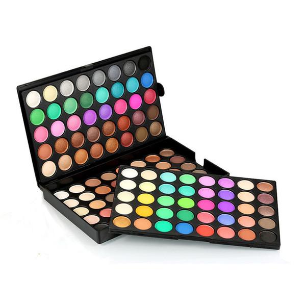 Sıcak satış Popfeel Güzellik 120 Renkler Kozmetik Pudra Göz Farı Paleti Makyaj Seti Mat Çıplak Göz Farı