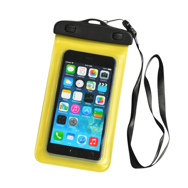 Universal Cell Phone Cover PVC Waterproof Dry Bag Case Pouch with Neck Strap for Samsung Galaxy s7 edge