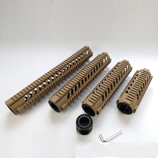 7,10,12,15 pouces accessoires de chasse de vitesse tactique de garde-corps de rail de quadruple de flotteur libre couleur de bronzage