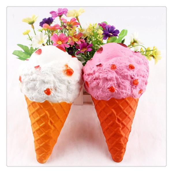 2017 Новый Kawaii Squishies Большой Мороженое Squishy Медленно растущие Squishies Подвески для телефонов Симпатичные Squishies Jumbo Fidget Toys Подвески для телефонов Идея подарка
