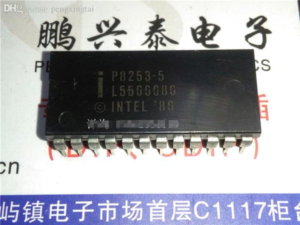 P8253-5 . P8253 / 3 TIMER(S), PROGRAMMABLE TIMER Integrated Circuits ICs , dual in-line 24 pins package / Electronic Component . PDIP24 . IC