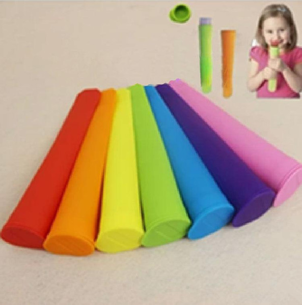 Silicone Ice Pop Mold Popsicles Mould with Lid Ice Cream Makers Push Up Ice Cream Jelly Lolly Pop For Popsicle