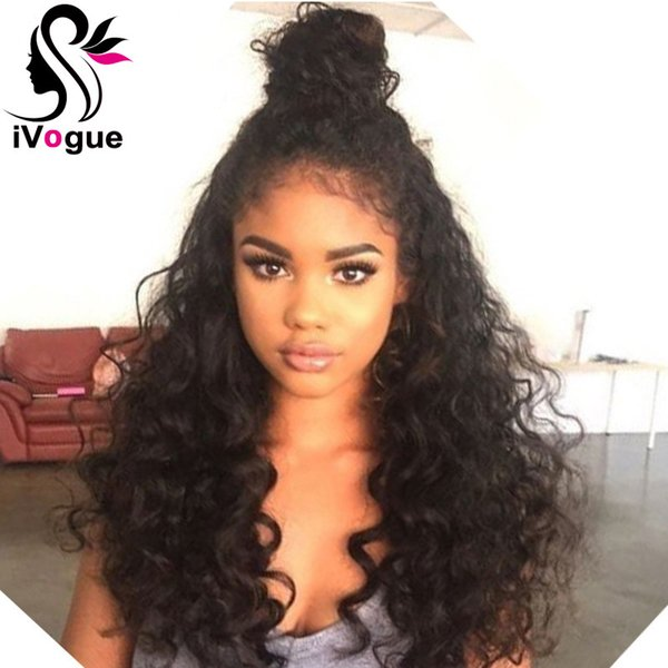 Loose Curly Human Virgin Hair Full Lace Wig Grade 6A Glueless Lace Front Human Hair Wig Unprocessed Remy Hair Lace Front Wig