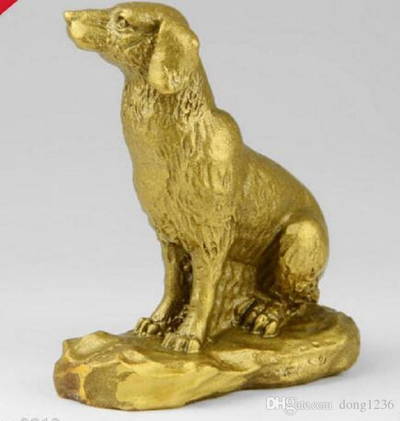 China Feng Shui Decorated Brass Chinese Zodiac Lucky Dog /amulet