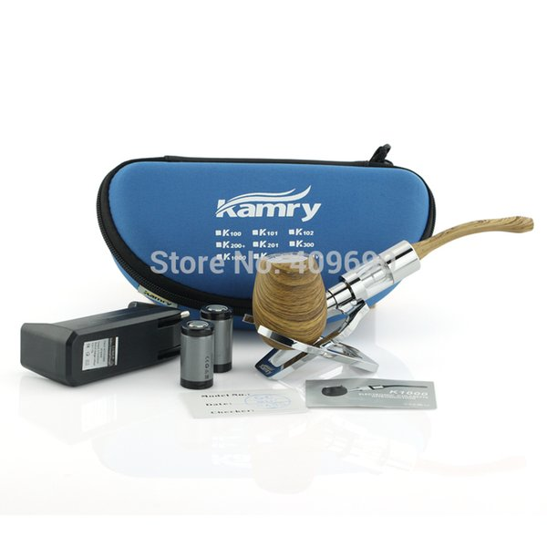 Wholesale-Original K1000 E PIPE Mechanical Mod kit with 3.0ml atomizer Kamry Brand Wooden E PIPES Cigarette with huge Vapor like Wood
