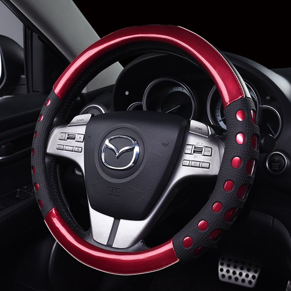 Steering wheel cover high quality leather and nice color matching for car interior accessory 2017 hot selling accessory