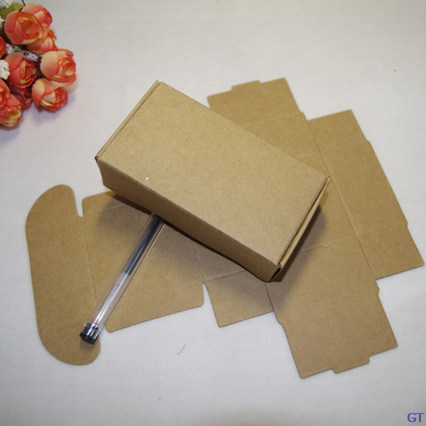 50pcs/lot 10 sizes brown color folding Gift Packaging Kraft Paper Box Event Party Wedding Candy Chocolate Bakery Cake DIY handmade Soap box