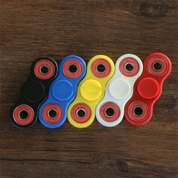 best selling 5 colors ABS HandSpinner fingertips spiral fingers gyro Torqbar fidget spinner stainless steel bearing free shipping C1869