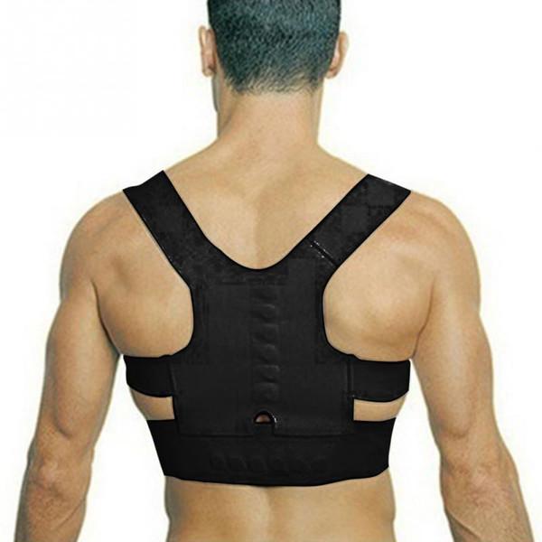Terapia de espalda ajustable caliente Corrector magnético de la postura del hombro para la muchacha estudiante Niño Hombres Mujeres Apoyos del imán Apoyos del imán