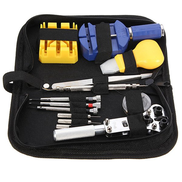 Wholesale-Best Promotion 13pcs Uhr Repair Tool Kit Set Fall Öffner Link Spring Bar Remover Pinzette Hohe Qualität