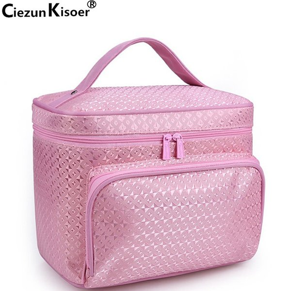 Ciezun Kisoer 2017 New Fashion Washing and Travel Toileting Bag Can Be Folded and Jacquard Neceser Mujer Large Cosmetic Bags Storage Box