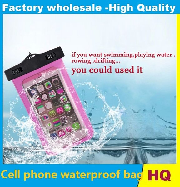 Universal water proof case for samsung galaxy s7 s6 Iphone 5 6 6S Plus,Cell Phone Dry Bag waterproof phone bag