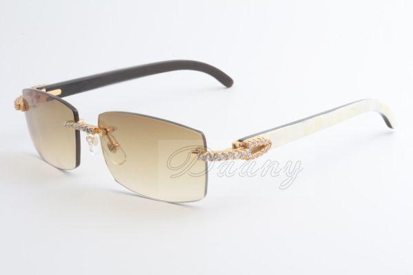 2017 neue Verkauf begrenzte große Diamant-Sonnenbrille männlich und weiblich gemischte Hörner Sonnenbrille 3524012 (2) Größe: 56-18-135mm