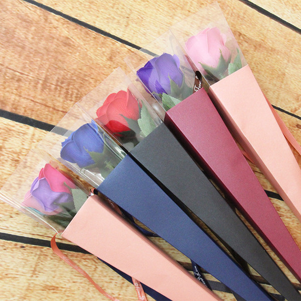 Artificial Flower Home Decor Colorful Rose Soap Flowers Box Packed Wedding Supplies Birthday Gifts Party Favor 4 5zr F R